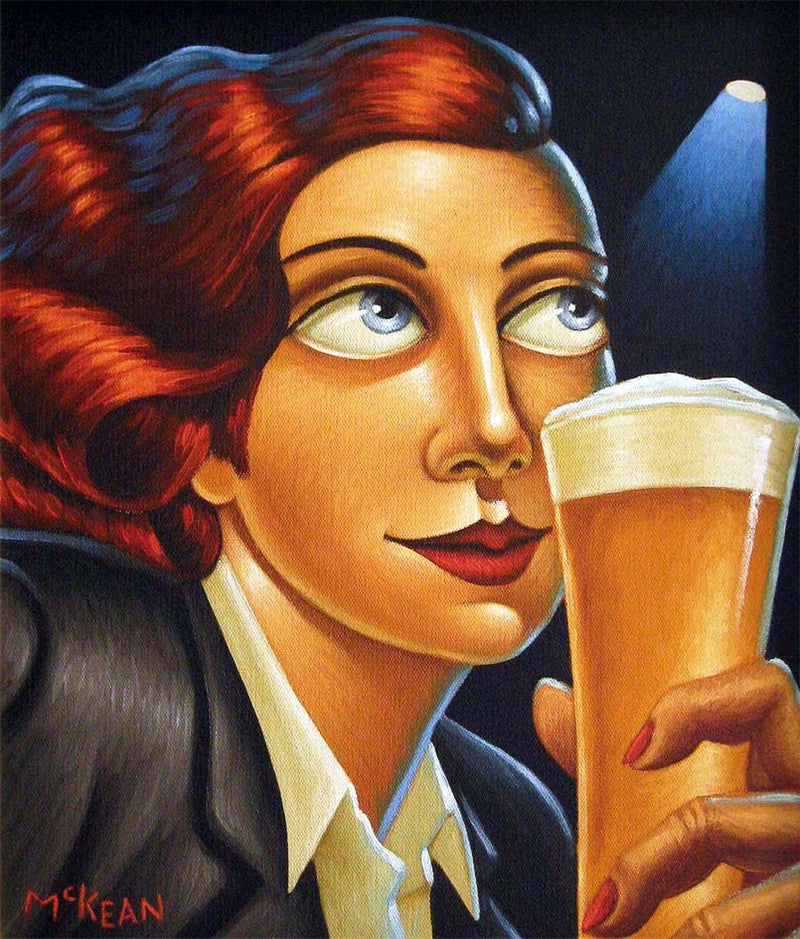 Girl with Lager