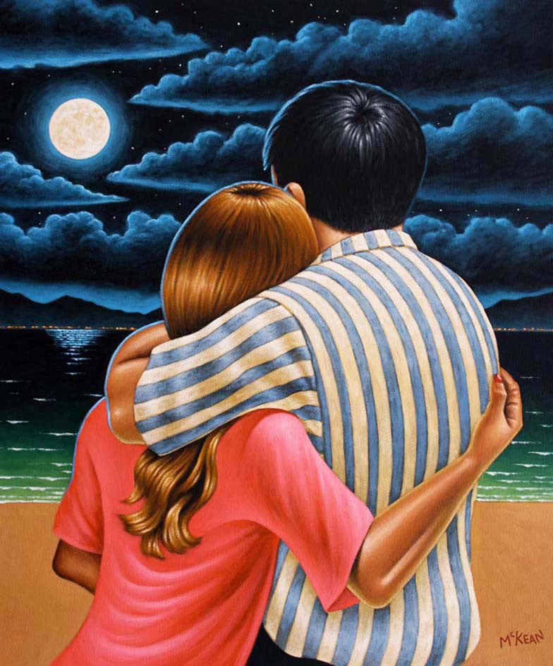 Lovers Under a Full Moon