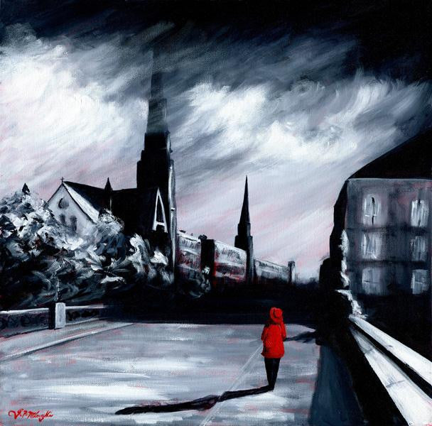 Red Coat and Church Steeples
