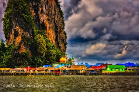 Koy Panyee Fishing Village Impression dark clouds