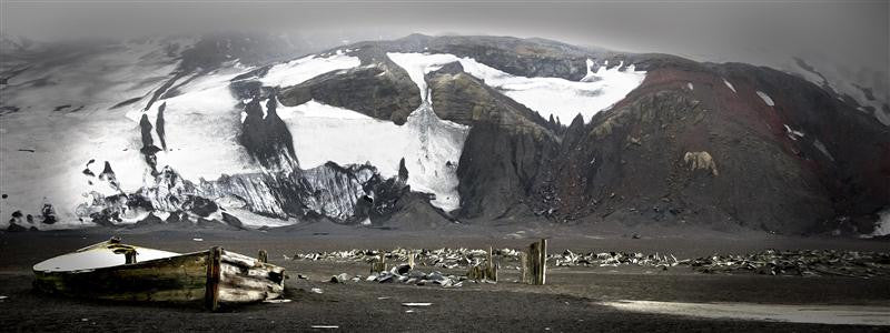 The remains of an old whaling station on Deception Island