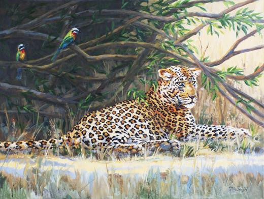 Leopard and Bee Eaters