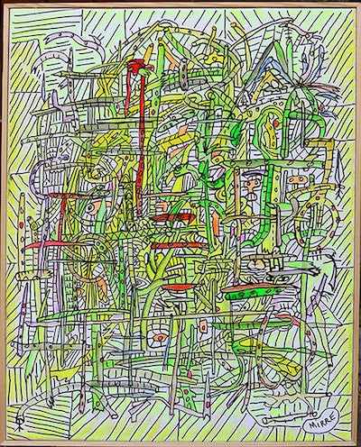 Abstract painting of what the artist thinks is the web