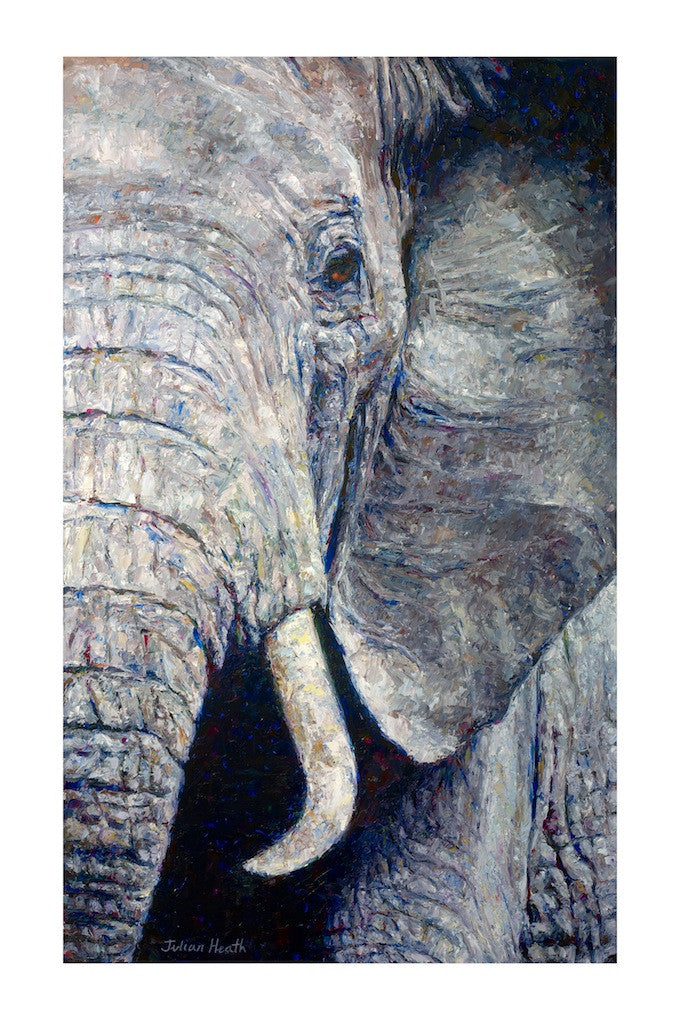 Amazing original painting of an elephants face