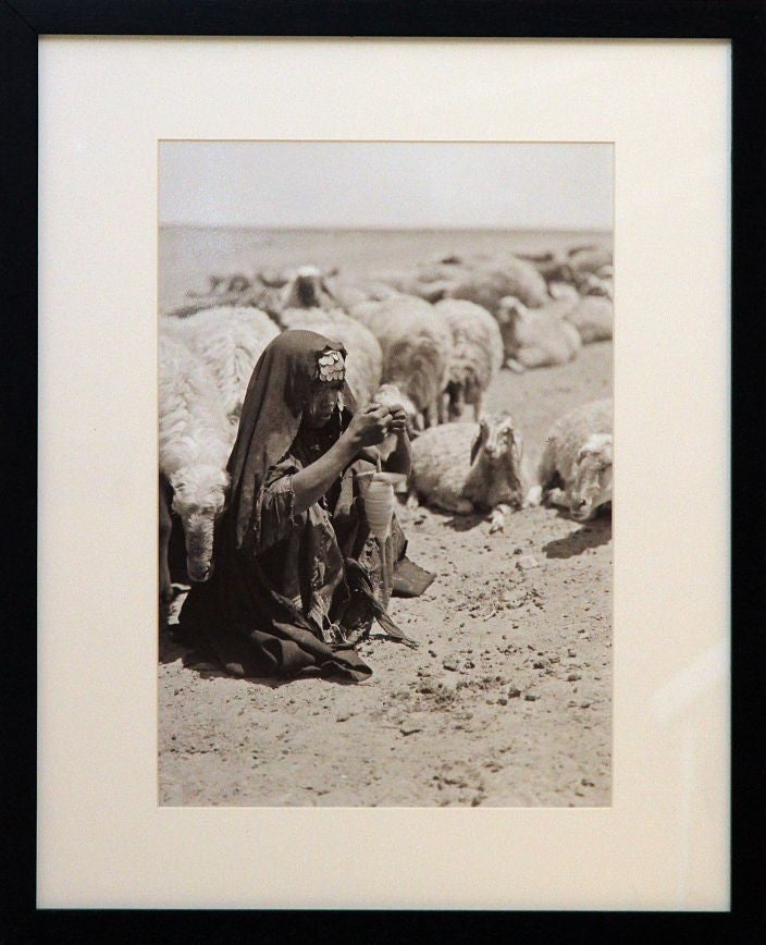 Bedouin Shepherdess Spinning Wool