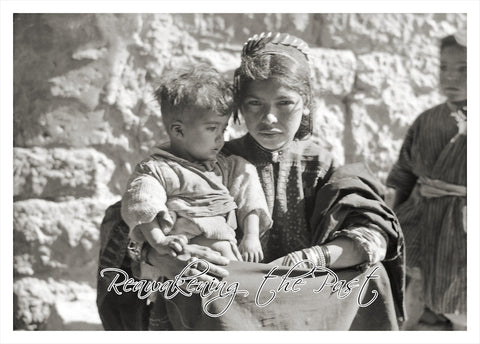 Bethlehem Girl Holding Child