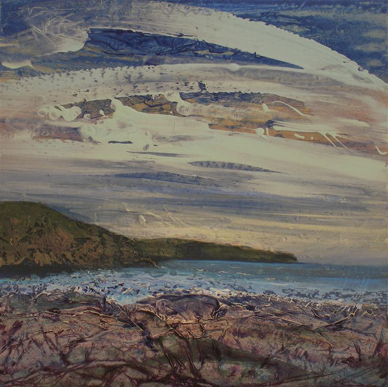 A winter painting of the coast at Monreith