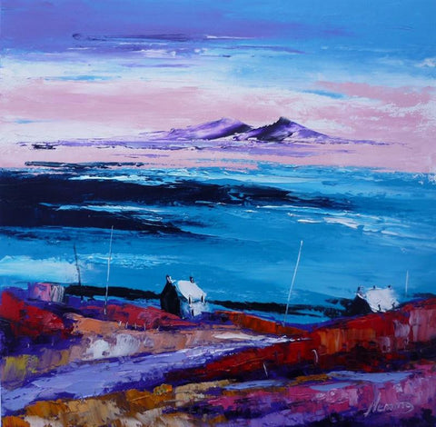 Autumn light, Scalasaig, Colonsay towards paps of Jura