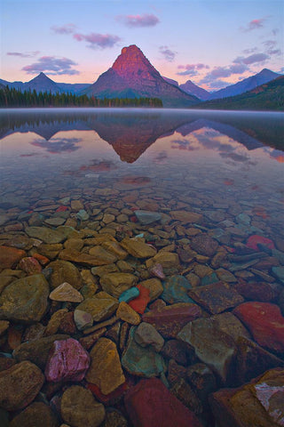 Coloured Rock Lake in Glacier National Park