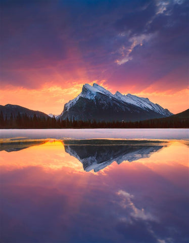 Fire In The Sky In The Canadian Rockies