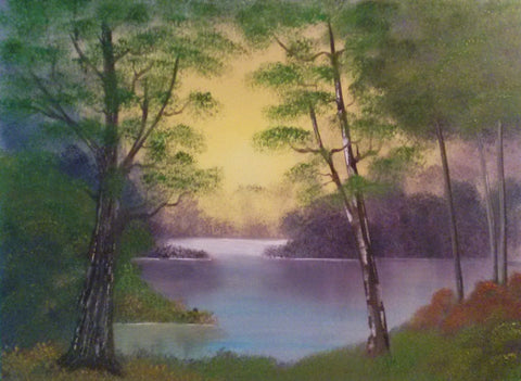 A Forest Pond Scene