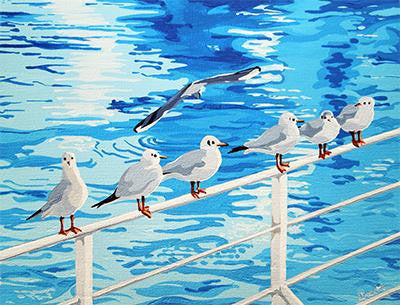 Gulls, Richmond upon Thames