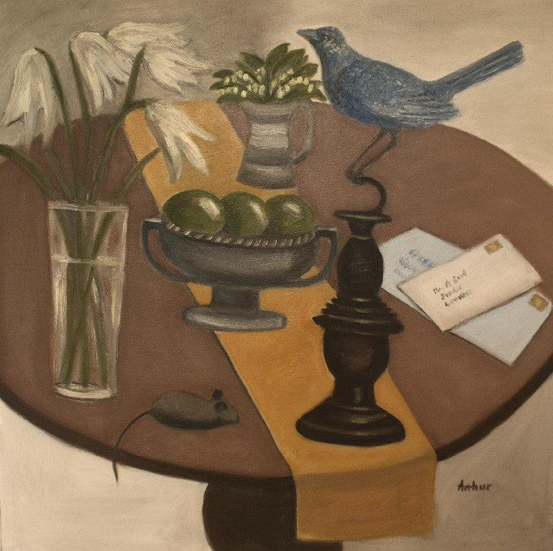 Still Life with Blue Bird and Mouse