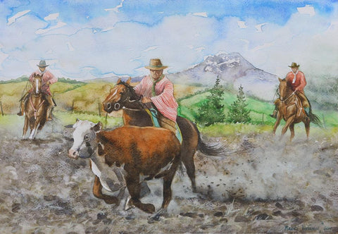 Chalanes (Andean Cowboys) working 1