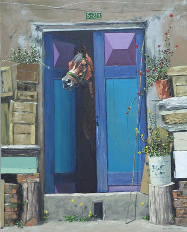 An Arab Horse Behind the Door