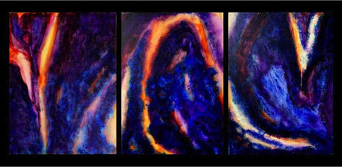 Triptych: In the middle, Like a ghost, Man