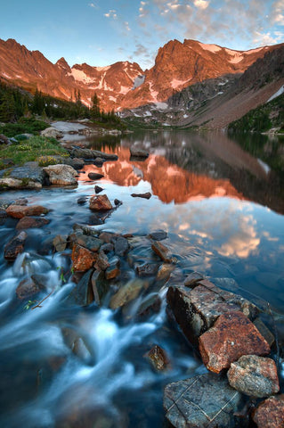 Glorious Alpenglow In The Indian Peaks