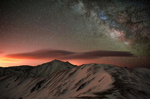 Lenticular Mountain Milky Way