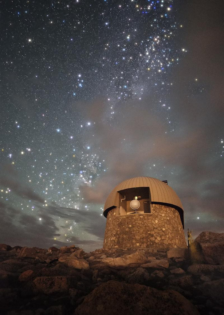 Milky Way Clouds Over The Mount Evans Observatory