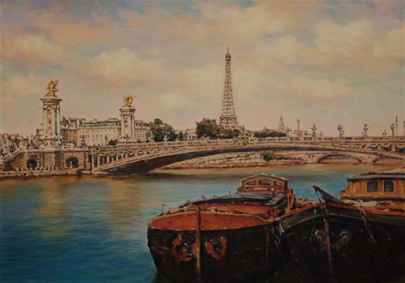 Barges on the Seine, Paris