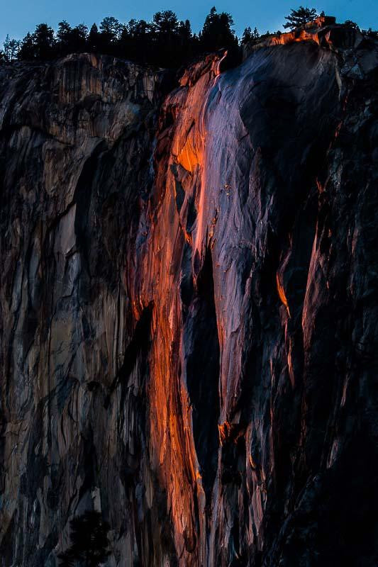 Photography print of the Yosemite Firefall in the USA