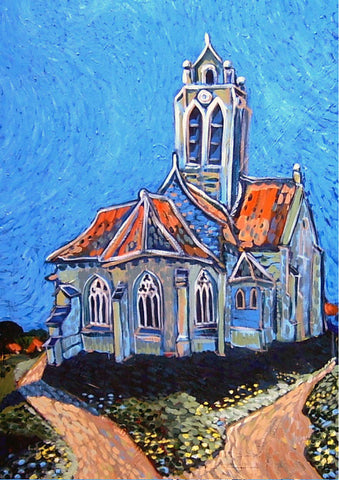 Church after Van Gogh