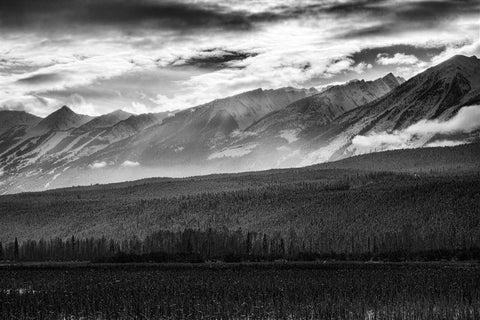 Rocky Mountains - Black and White
