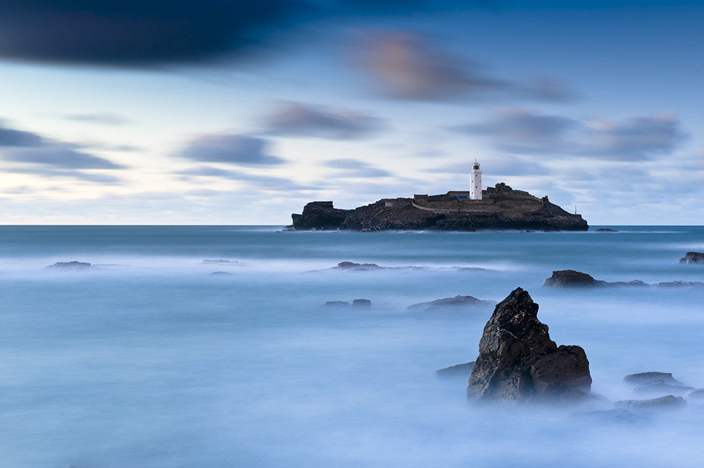 Godrevy Lighthouse at Dusk