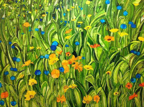 Meadow with Daisies and Cornflowers