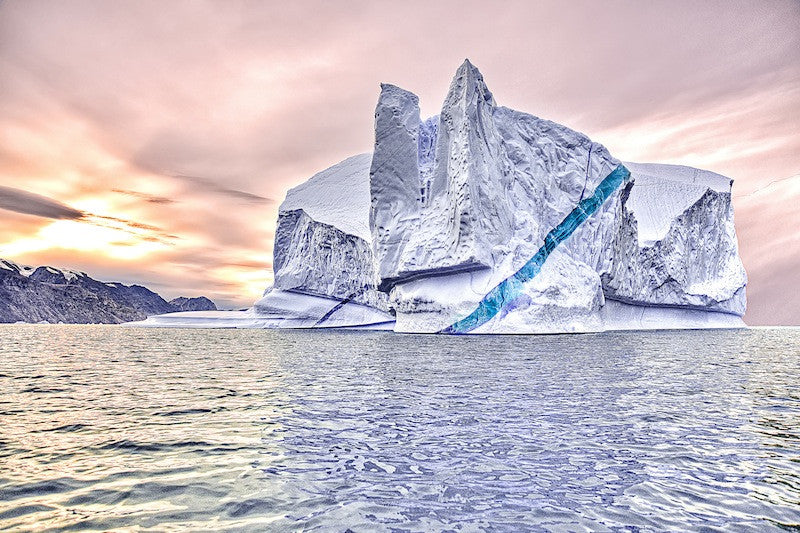 Stunning photograph of an iceberg in the water
