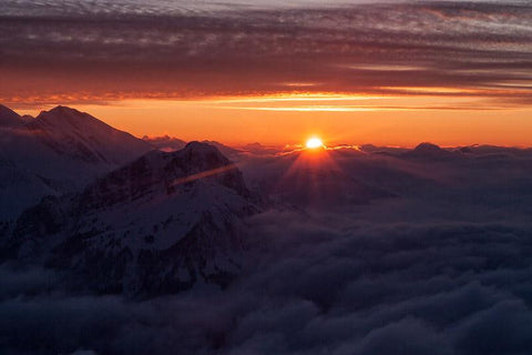 Epic Mountain Sunset