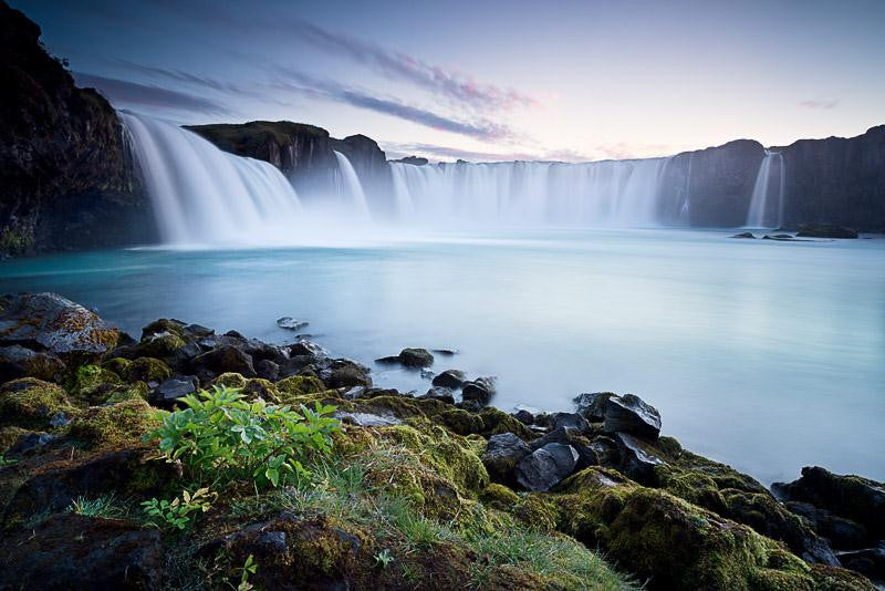 Long exposure photograph of the waterfall of the Gods in full flow