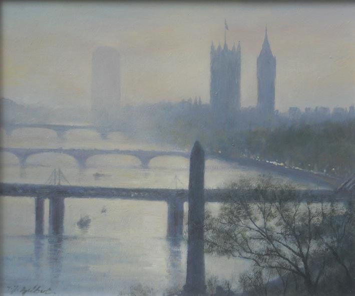 The Thames towards Westminster