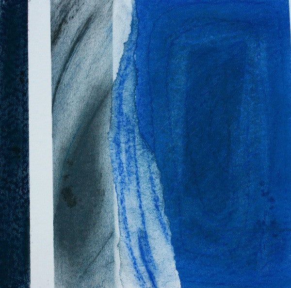 original abstract painting in blue
