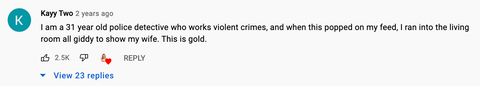 comment on Christy Carlson Romano's youtube video