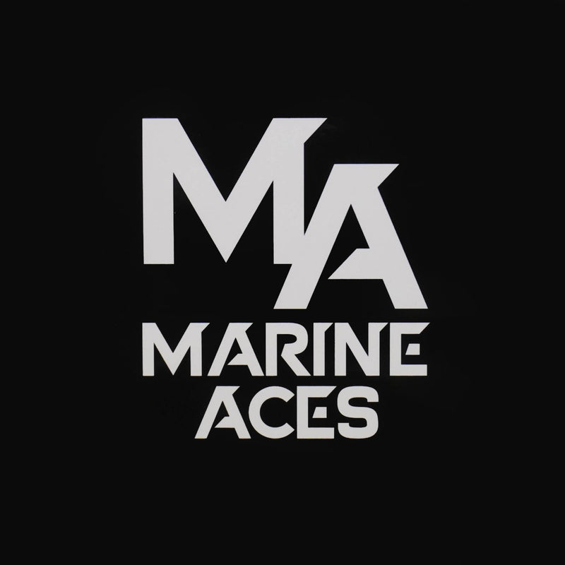 Marine Aces Text Sticker (Black)