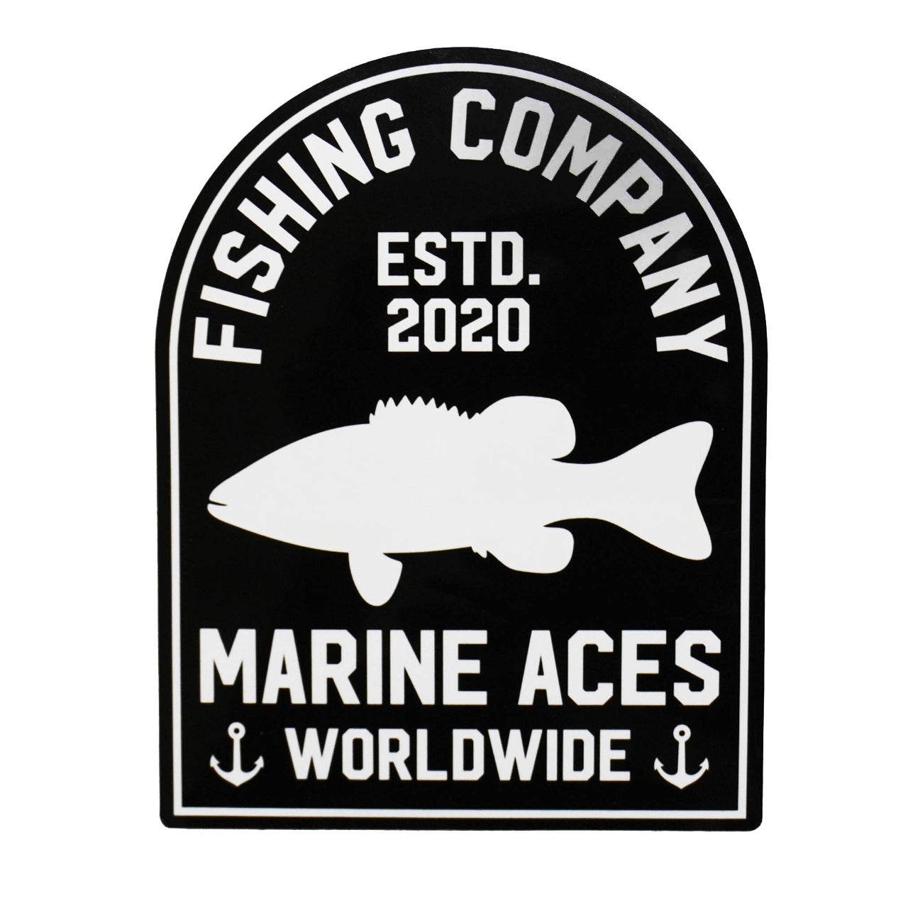 Fishing Worldwide Sticker (Black)