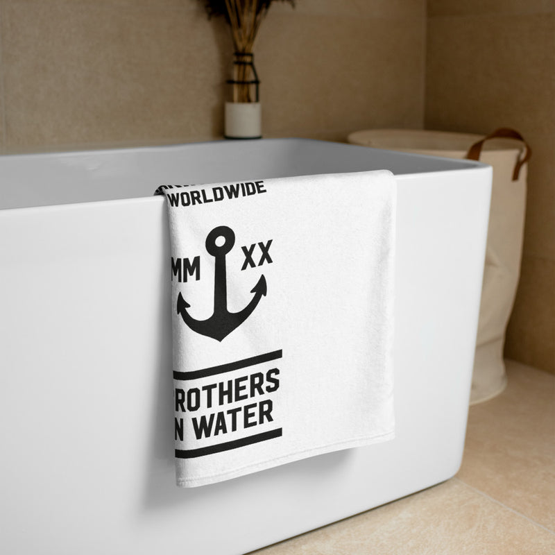 Brothers in Water Towel (White)
