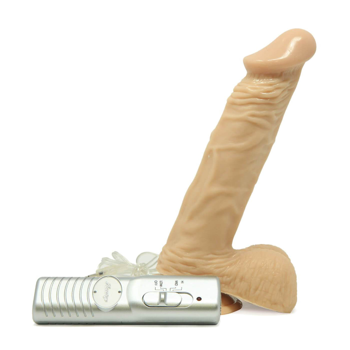 Huge 8 Inch Vibrating Dildo by Nasstoys