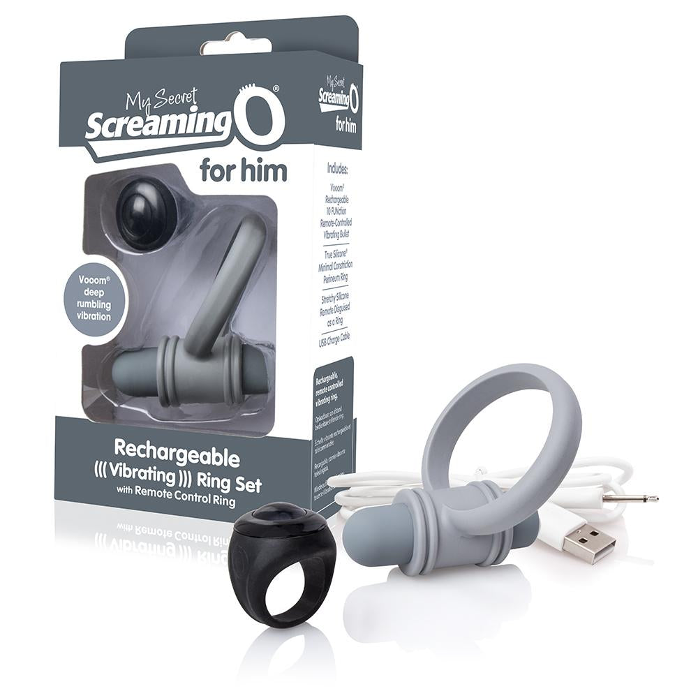 Screaming O My Secret Rechargeable Bullet Vibe and Wireless Ring Remote Set For Men