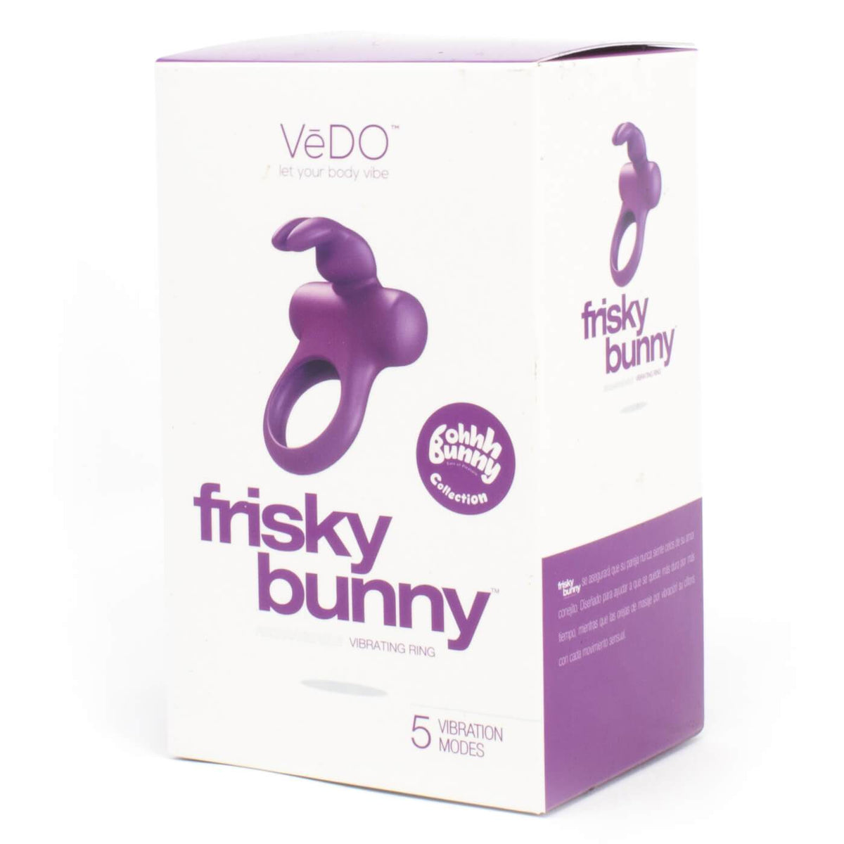 Vedo Frisky Bunny Extra Quiet 5 Function Powerful Vibrating Ring