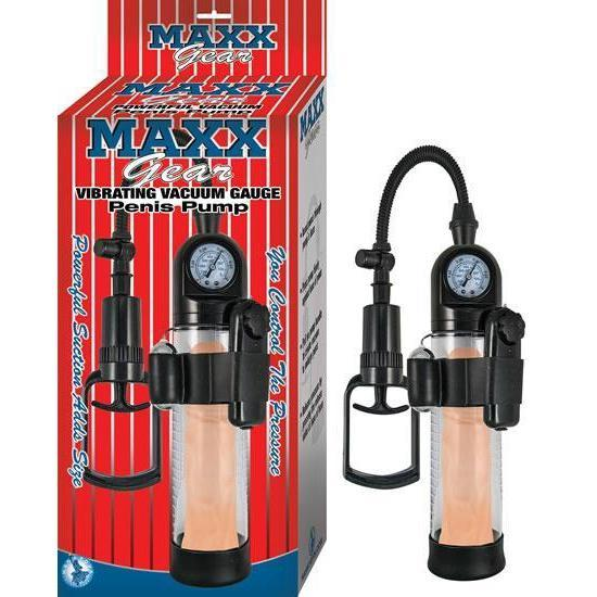 Maxx Gear Vacuum Gauge Vibrating Penis Pump