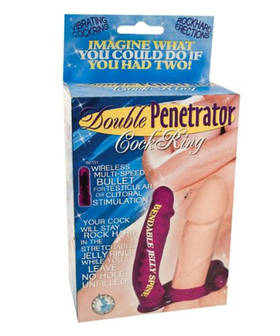 Double Penetrator C Ring Anal Vibrator Strap On