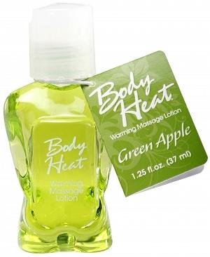 Body Heat Warming Massage Lotion Green Apple
