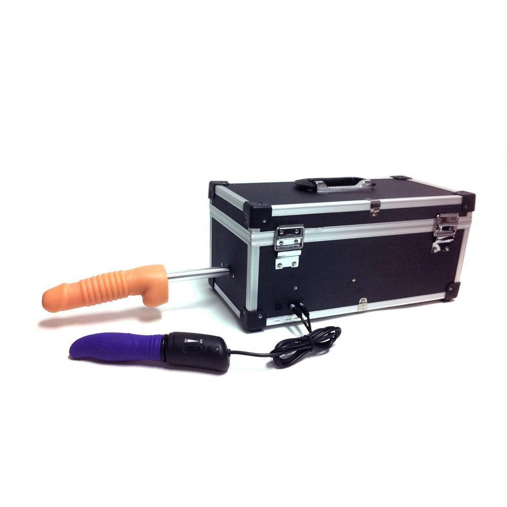 Heavy Duty Sex Machine Toolbox + 3 Attachments