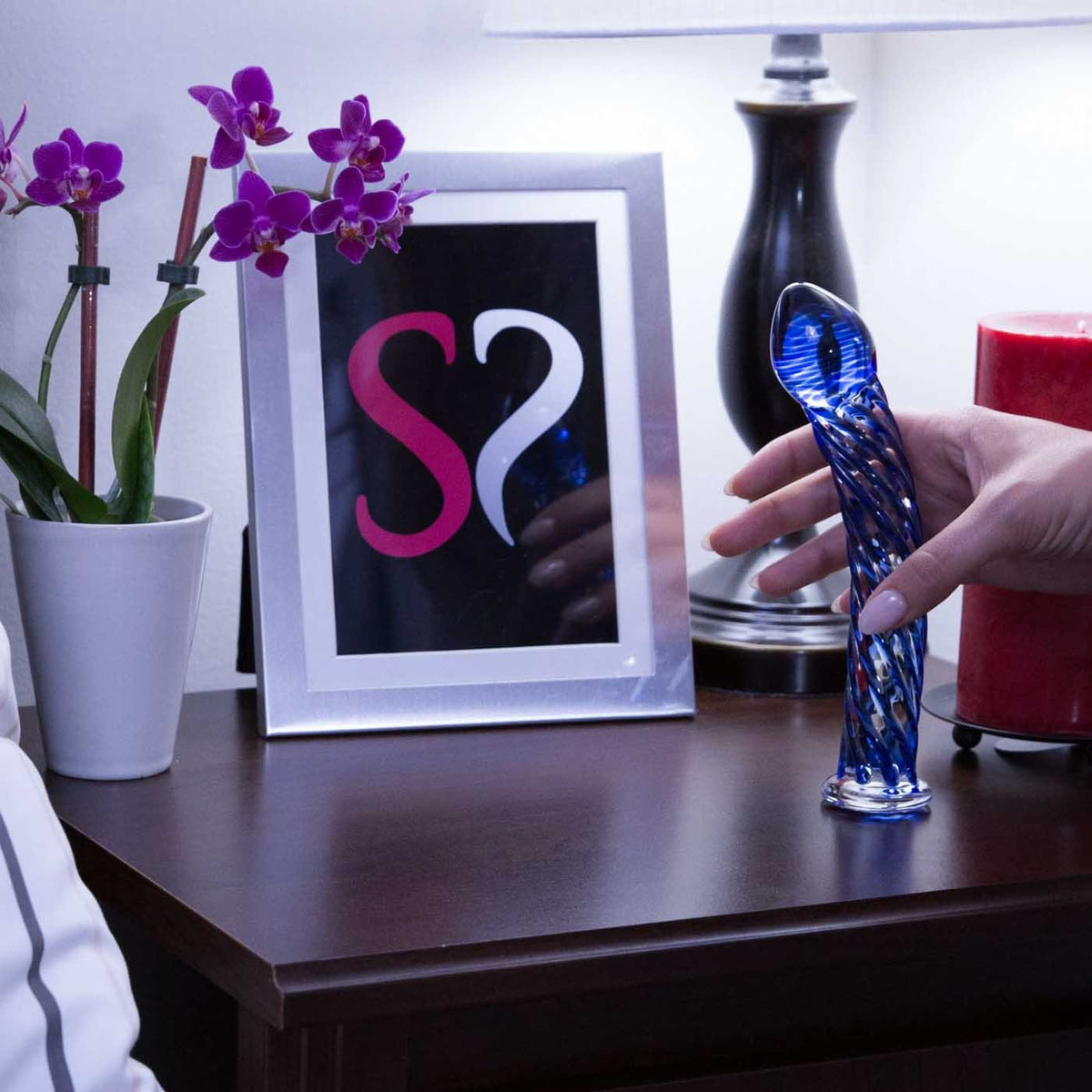 Icicles No. 29 Glass Dildo in Blue