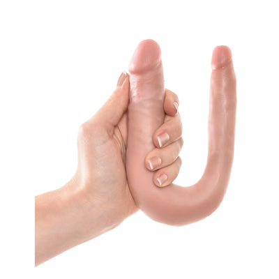 King C Ultra Realistic U-Shaped Small Double Trouble Dildo