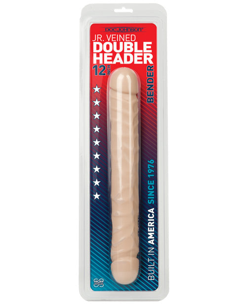 Doc Johnson Jr. Double Header 12 Inch Black Bender Dildo