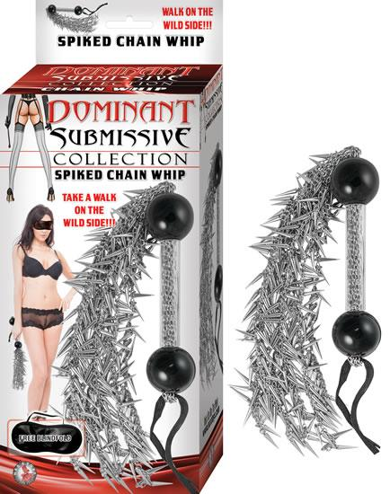 Dominant Submissive Collection Flexible 16 inches Spiked Chain Whip
