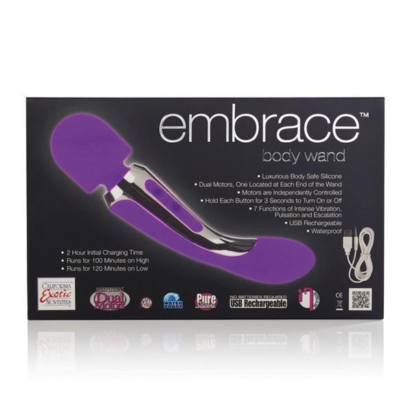 Embrace Silicone Body Wand Massager Vibe in Purple